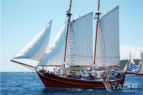 Greek Traditional Gaff-Rigged Schooner Greek Traditional Gaff-Rigged Schooner