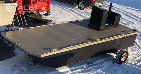 New 23' x 8'6 Steel Work Barge With Push Knees, Console and Spud Pockets